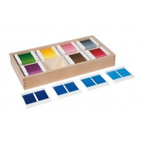 Kolorowe tabliczki nr 4 - 32 pary, Nienhuis Montessori