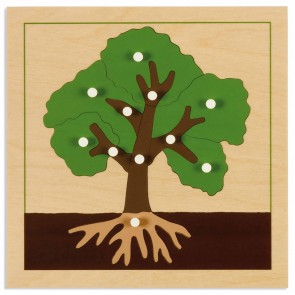 Puzzle botaniczne - drzewo, Nienhuis Montessori