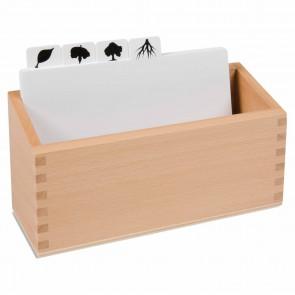 Puzzle botaniczne - pudełko i przedziałki do kart pracy, Nienhuis Montessori