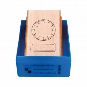Pieczątka zegar analogowy - 12 cyfr, 6+, Jegro