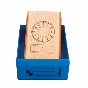 Pieczątka zegar analogowy - 24 cyfry, 6+, Jegro