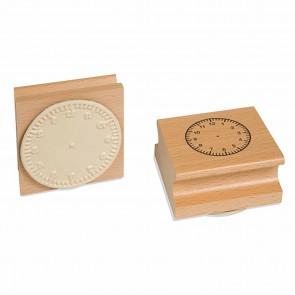 Pieczątka z 12 godzinną tarczą zegarową, 6+, Jegro