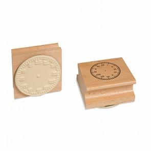 Pieczątka tarczą zegarową - cyfry rzymskie, 6+, Jegro
